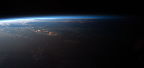 Sunrise terminator from space